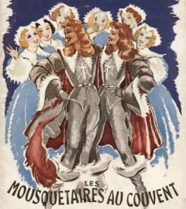 Affiche de l'opérette Les Mousquetaires au couvent
