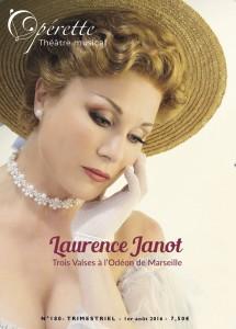 Laurence Janot à la une d'Opérette Théâtre Musical 180