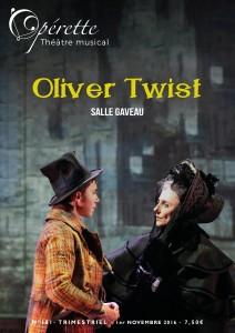 Oliver Twist fait la couverture d'Opérette Théâtre Musical