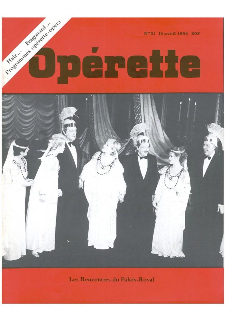 Opérette - numéro 51
