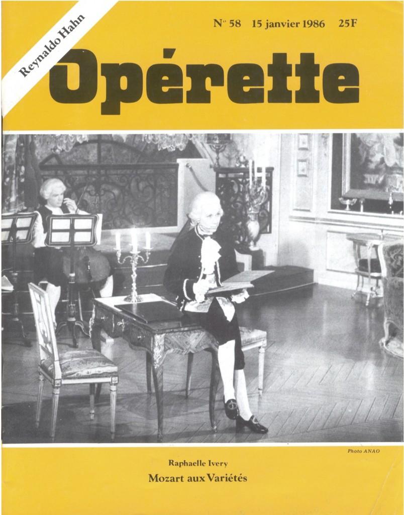 Opérette - numéro 58