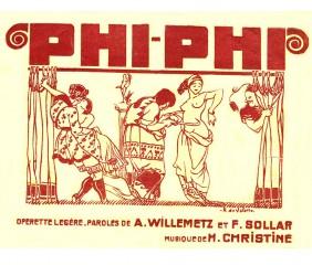 Affiche de l'Opérette Phi-Phi