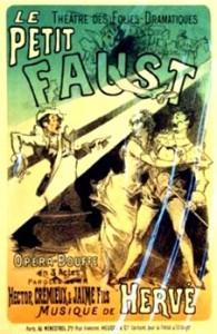 Affiche de la comédie musicale Le Petit Faust