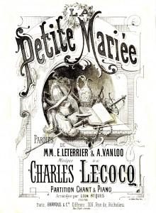 Affiche de l'Opéra Bouffe La Petite Mariée