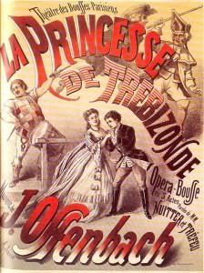 Affiche de l'opéra bouffe La Princesse de Trébizonde