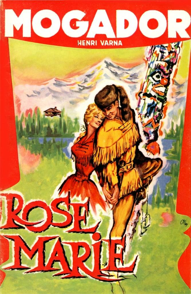 Affiche du Mogador pour l'Opérette Rose-Marie