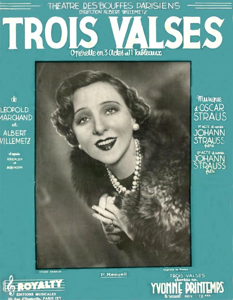 Fiche documentaire sur l'Opérette Trois Valses