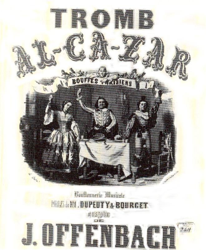 Affiche d'époque pour le spectacle musical Trom-Al-Ca-Zar