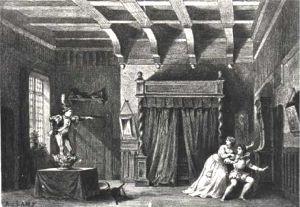 Dessin d'une ancienne représentation du Petit Faust