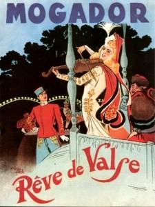 Affiche pour l'Opérette Rêve de Valse au Mogador