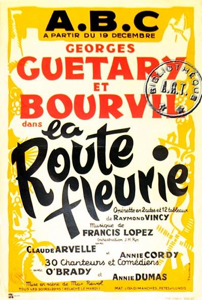 Affiche : La Route Fleurie
