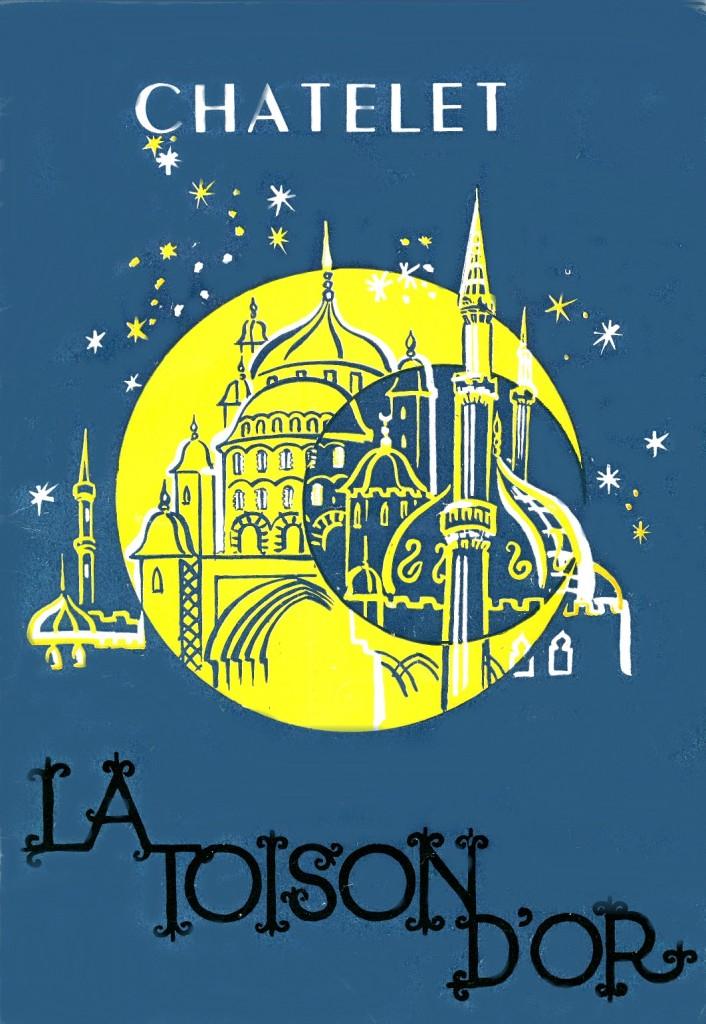 Affiche d'époque : La Toison d'Or au Châtelet