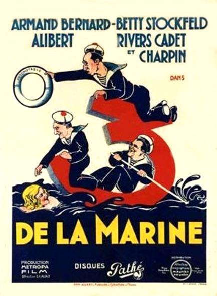 Affiche de l'Opérette Marseillaise Trois de la Marine