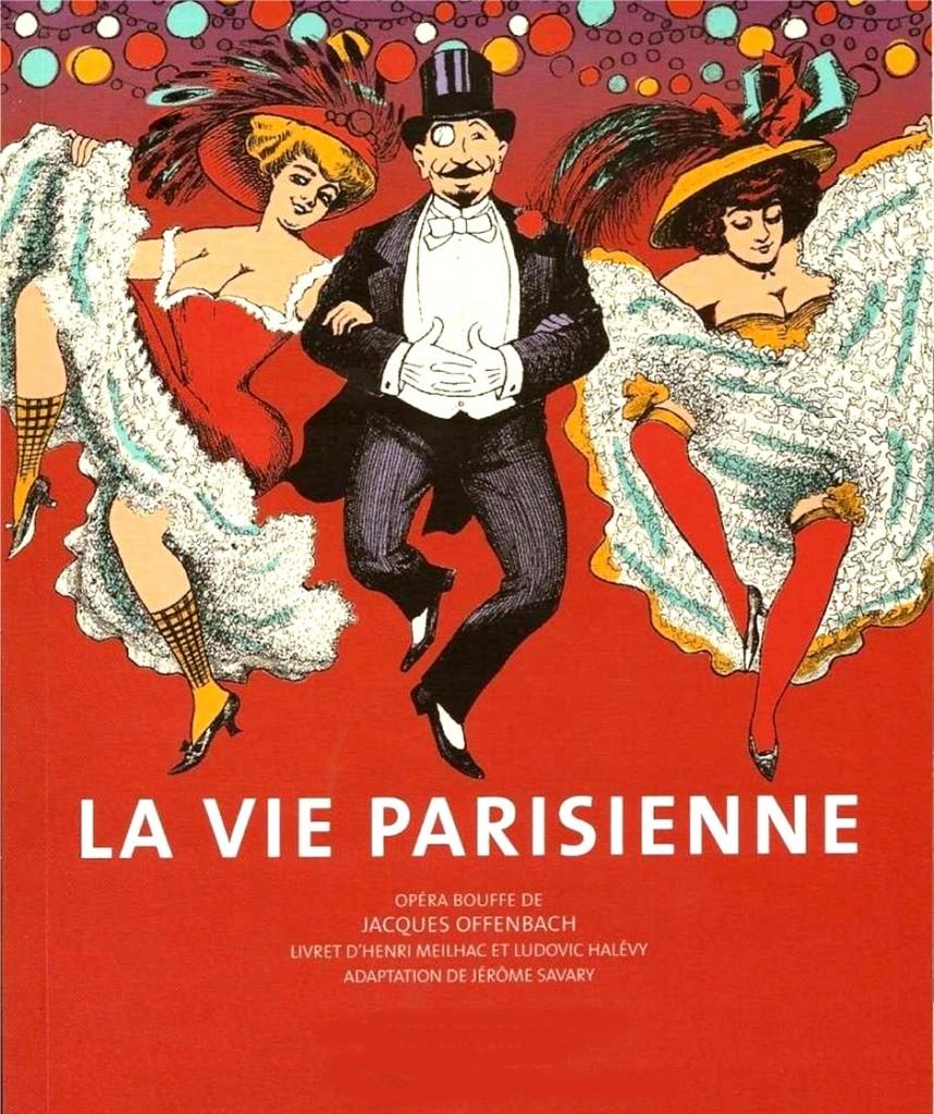 Affiche de l'Opéra-Bouffe La Vie Parisienne