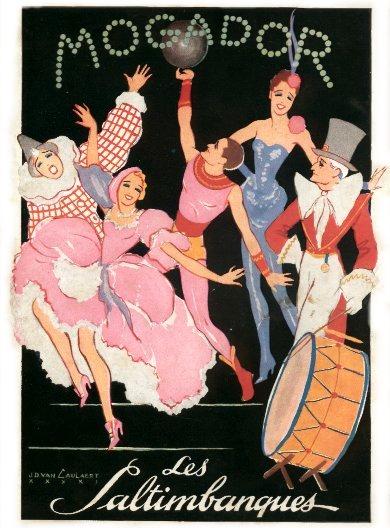 Affiche pour l'Opéra-Comique Les Saltimbanques