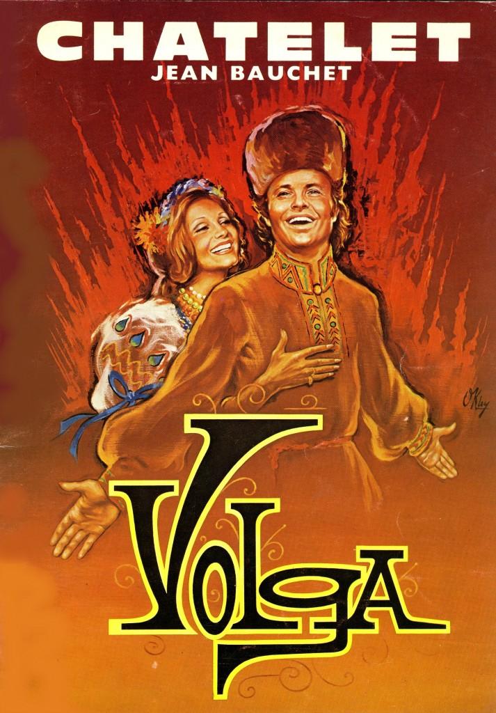 Affiche de Volga pour le théâtre du Châtelet