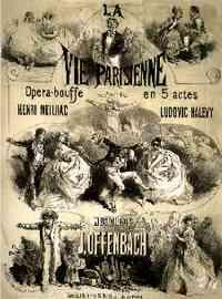 La Vie Parisienne : Affiche de l'Opéra-Bouffe