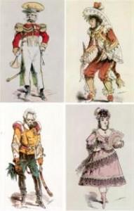 Costumes de l'Opéra-Bouffe La Vie Parisienne
