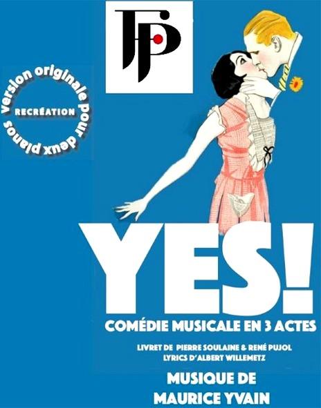 Affiche pour la comédie musicale Yes !