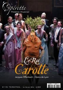 Couverture du n°178 Offenbach pour l'opérette le Roi Carotte