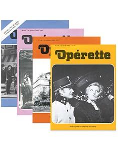 Découvrez les très anciens numéros de votre magazine opérette !