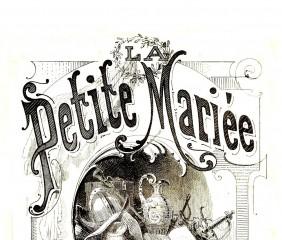 Affiche de l'Opéra-Bouffe La Petite Mariée